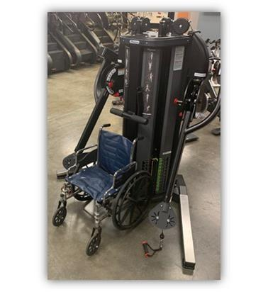 Freedom Trainer shown with wheelchair